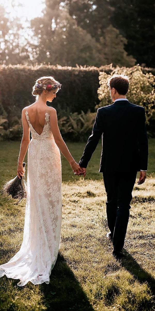 country wedding dresses sheath spaghetti strap sleeveless open back chris and ruth