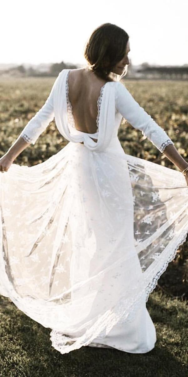 country wedding dresses with three quote sleeves lace rimea rodaky