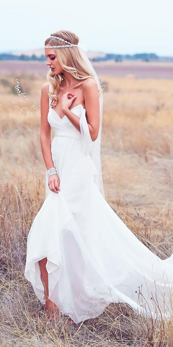 flowy simple sweetheart neck destination wedding dresses anna campbell