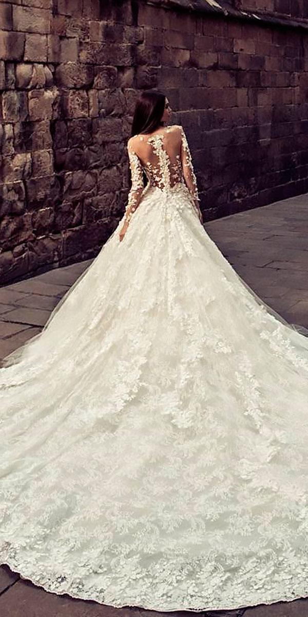 illusion backless ball gowns wedding dresses with train julia kontogruni