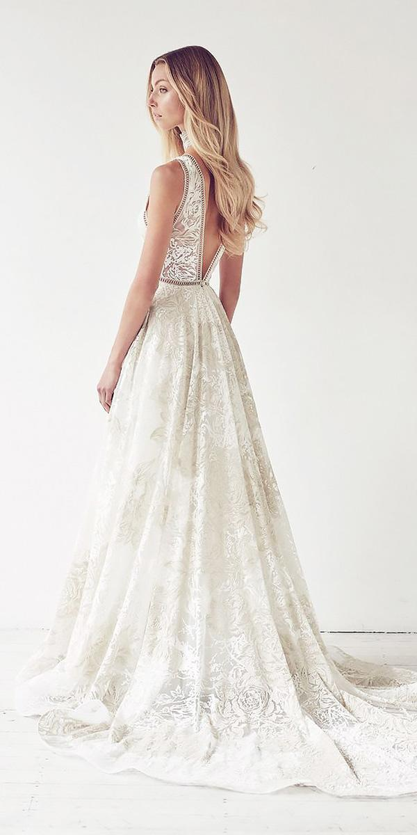 lace-a line v shape back wedding dresses with train suzanne harward