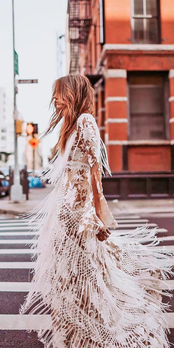 lace beach with short sleeves destination wedding dresses rue de seine