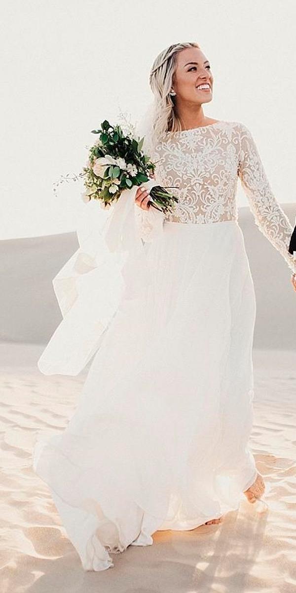 lace long sleeved country wedding dresses limor rosen.