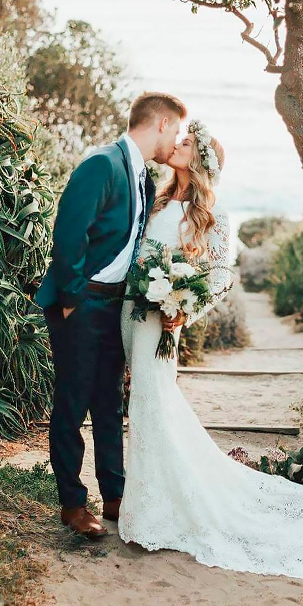 lace rustic high neck country wedding dresses with long sleeves rebecca johnson
