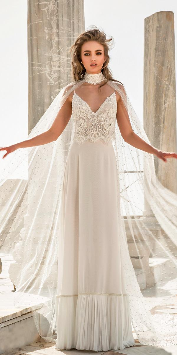 lace sweetheart spaghetti straps sheath wedding dresses dany mizrachi