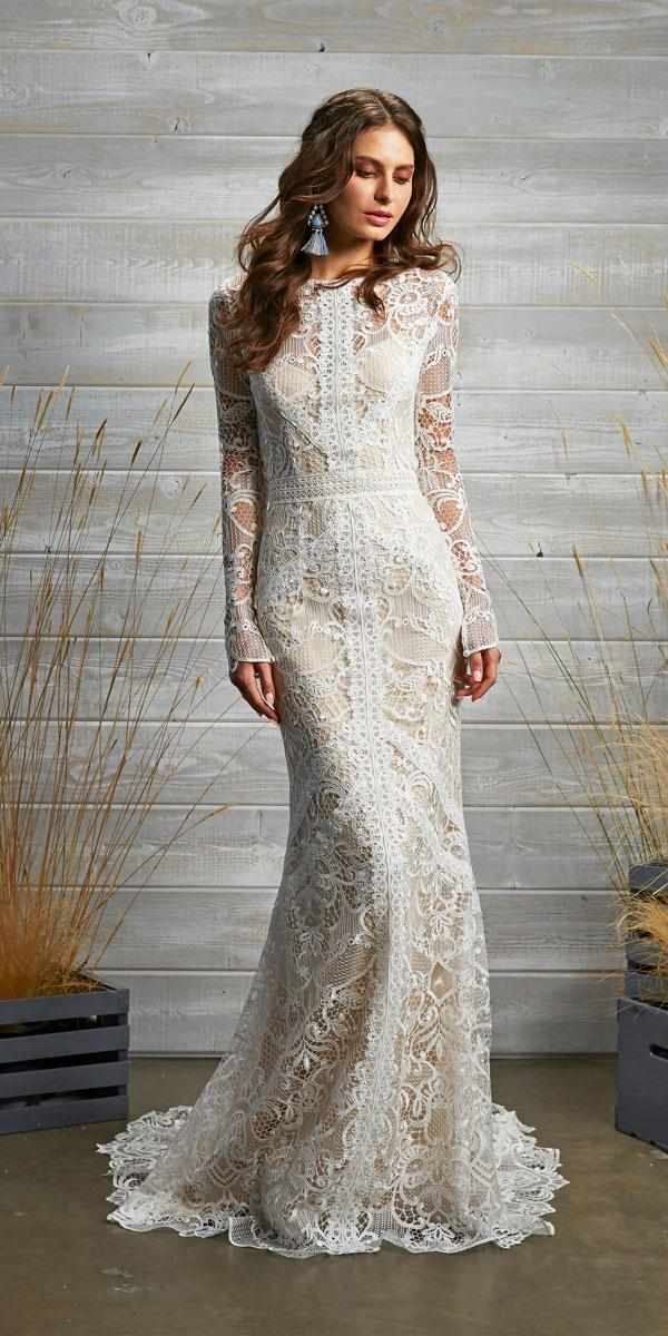 lace vintage wedding dresses with long sleeve tara lauren style felix