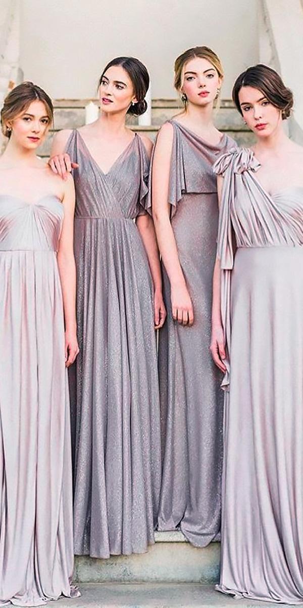 long dusty lavender bridesmaid dresses jenny yoo