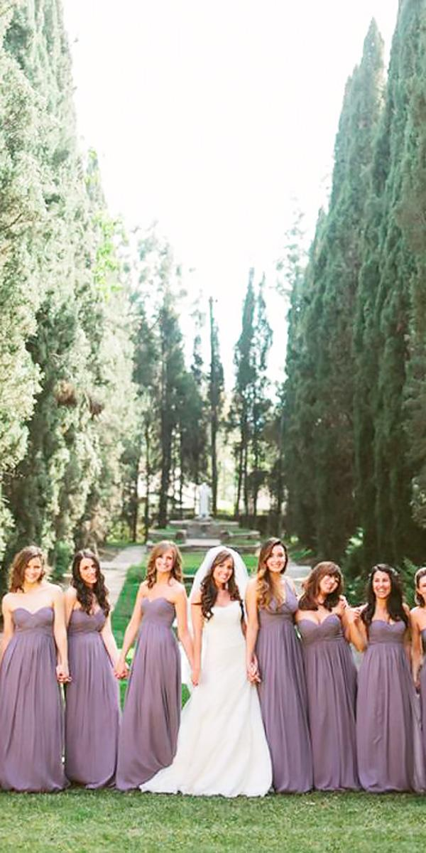 long strapless sweetheart lavender bridesmaid dresses josselyn peterson