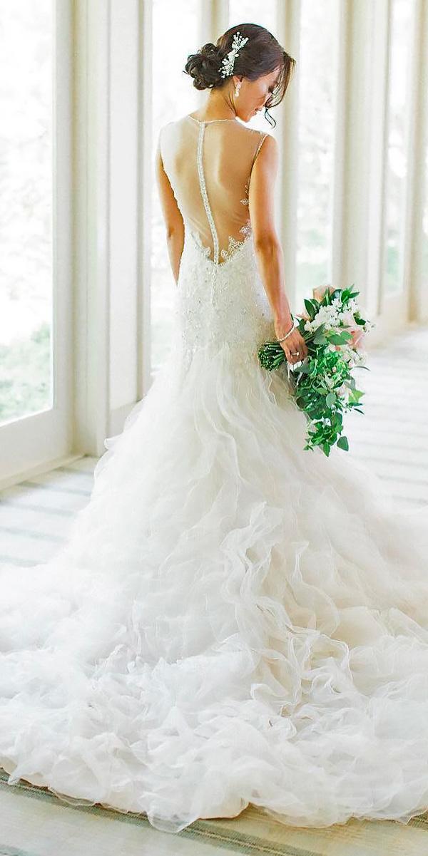 mermaid illusion open back destination wedding dresses bo