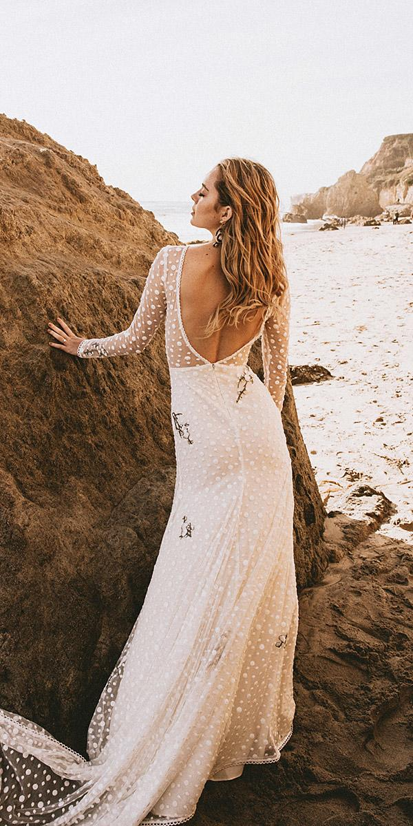 modest wedding dresses with long sleeves low back nude beach junebug weddings