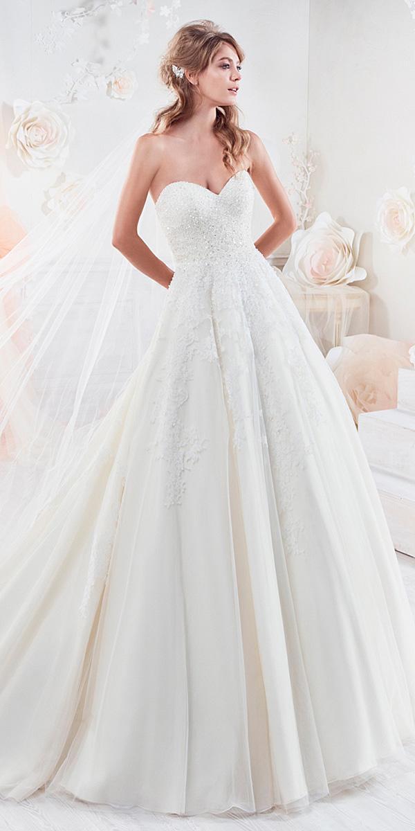 nicole spose wedding dresses a line beaded top 2018