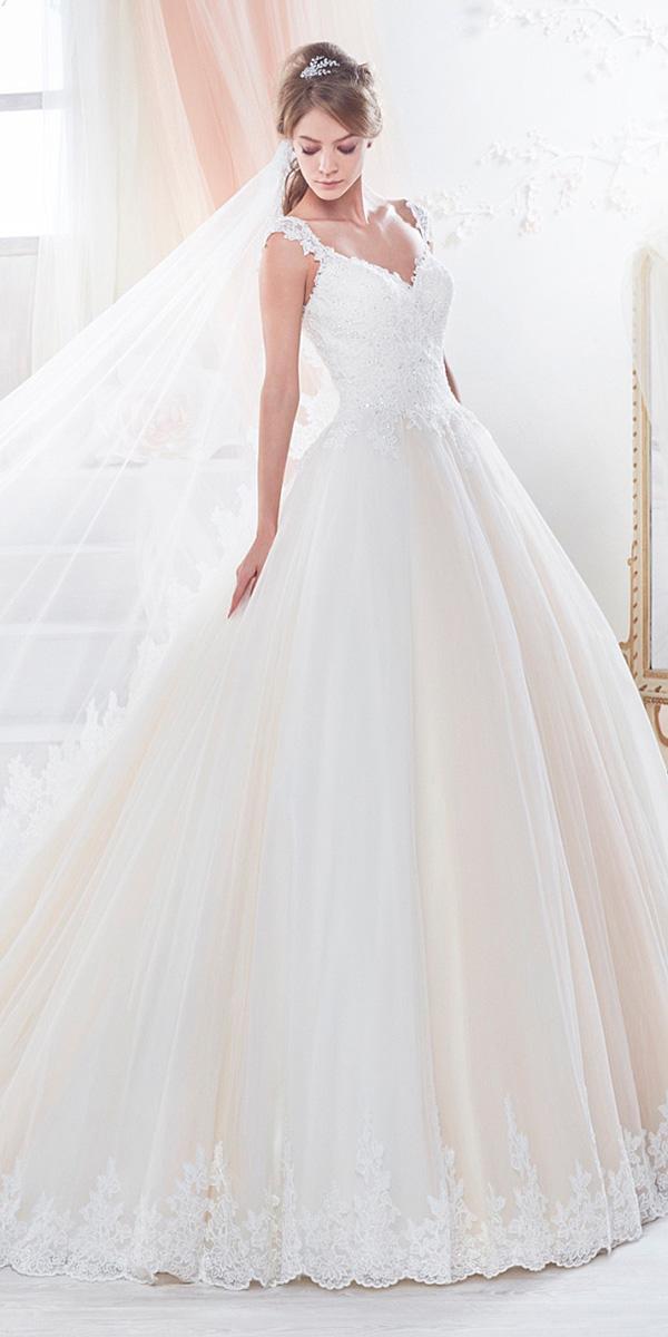 nicole spose wedding dresses a line with straps blush 2018