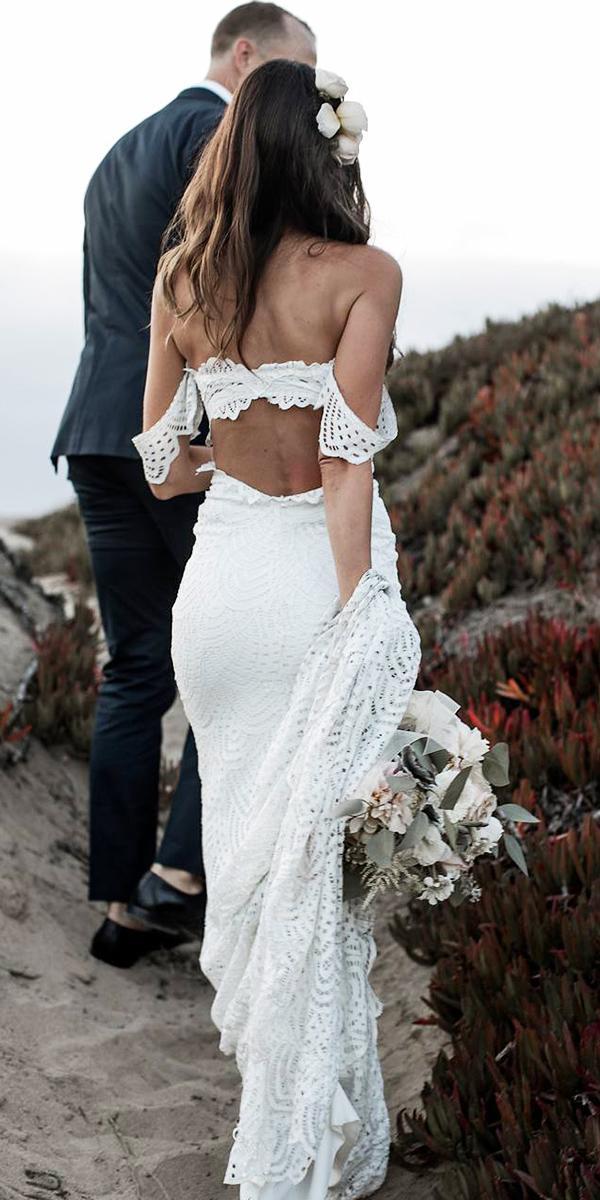 off the shoulder wedding dresses sheath lace embellishment vintage grace loves lace