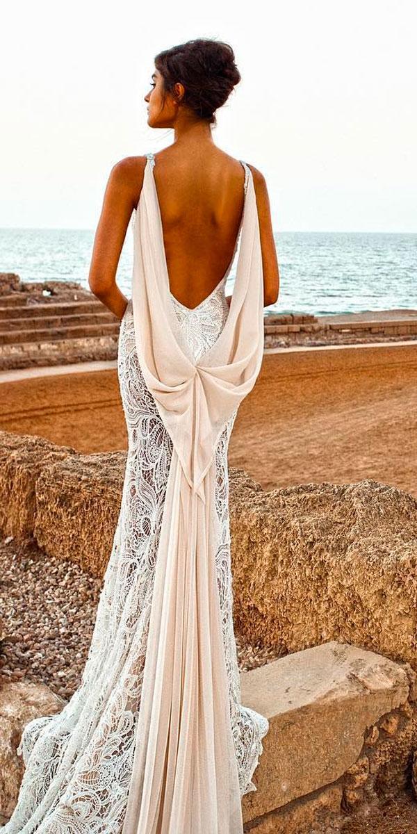 open back beaded lace sheath wedding dresses galia lahav