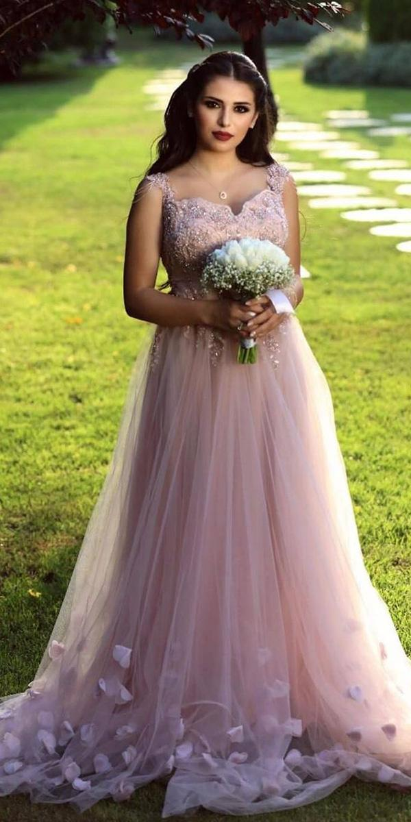 pink wedding dresses a line sweetheart tulle skirt blush eden haute couture