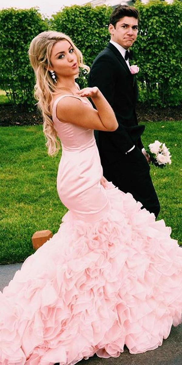 pink wedding dresses mermaid sleveless beach sherri hill