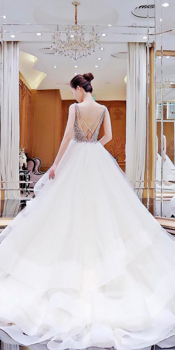 princess x cross open back ball gowns wedding dresses lazaro