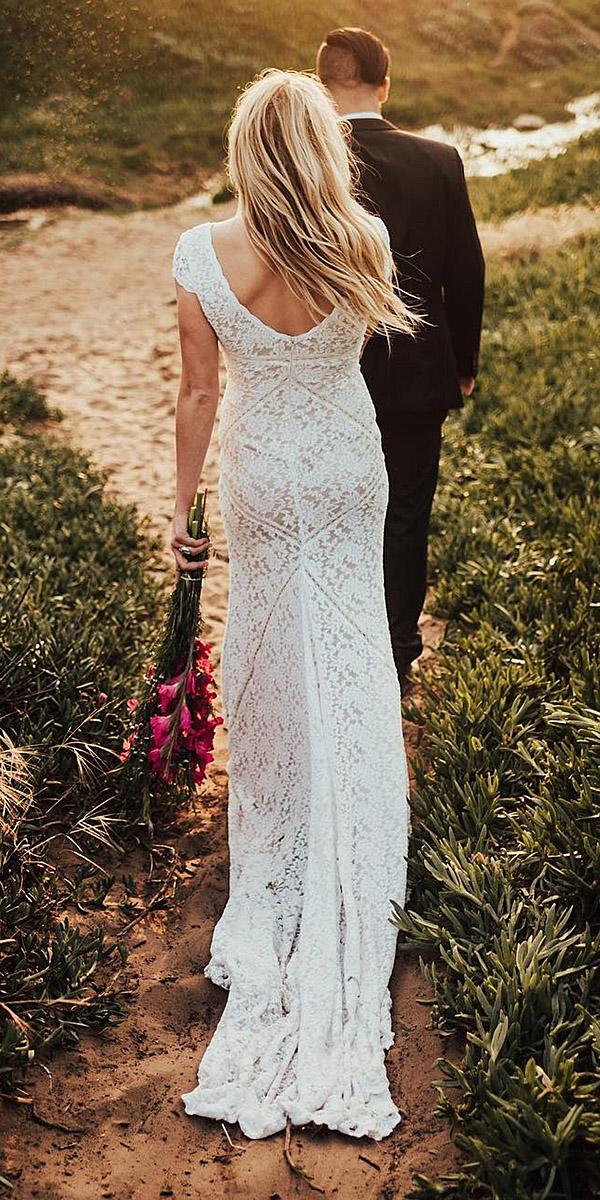 rustic wedding dresses with cap sleeves lace embellishment dreamers and lovers