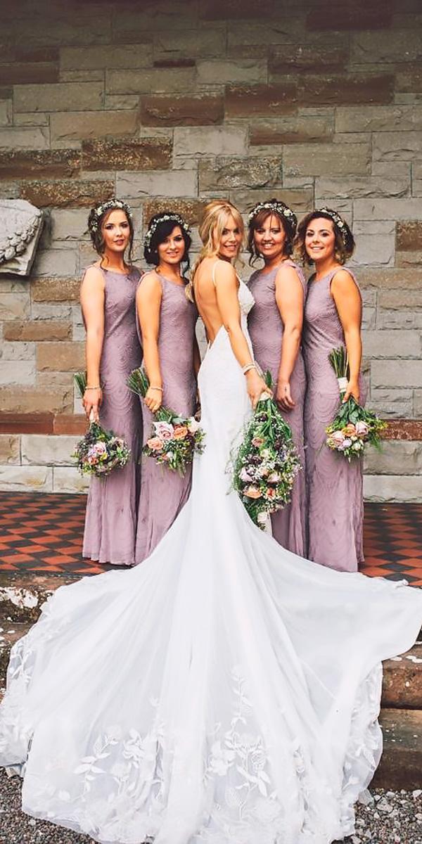 sheath halter dusty lavender bridesmaid dresses ten21