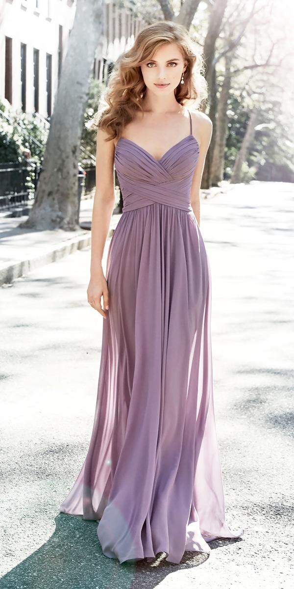 sheath spaghetti straps sweetheart modest lavender bridesmaid dresses hayley paige