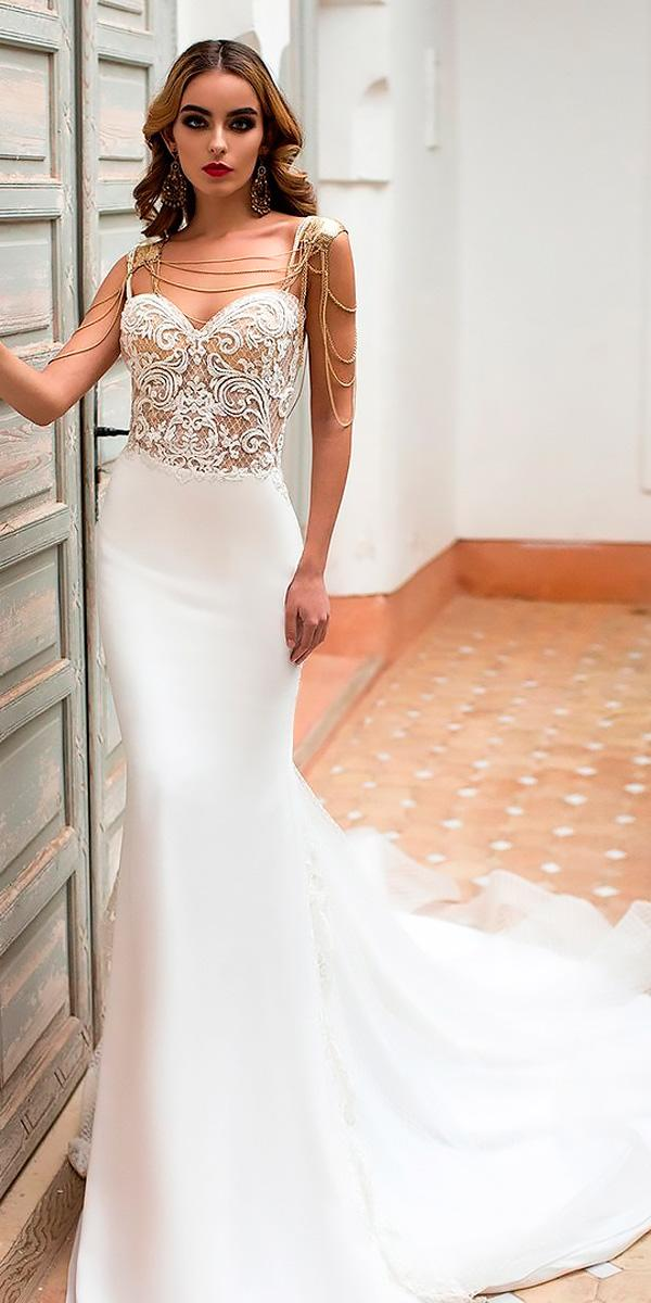 21 Unforgettable Sheath Wedding Dresses For Ideal Celebration ...