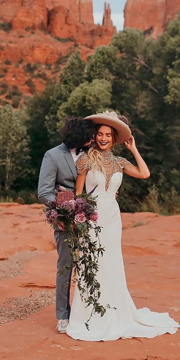 sheath western sweetheart beaded neck country wedding dresses hayley paige