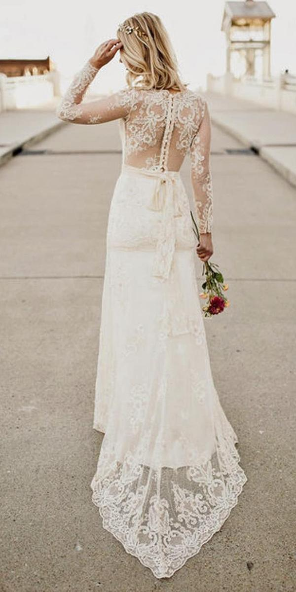 country wedding dresses with illusion effect back and jewel neckline claire pettibone