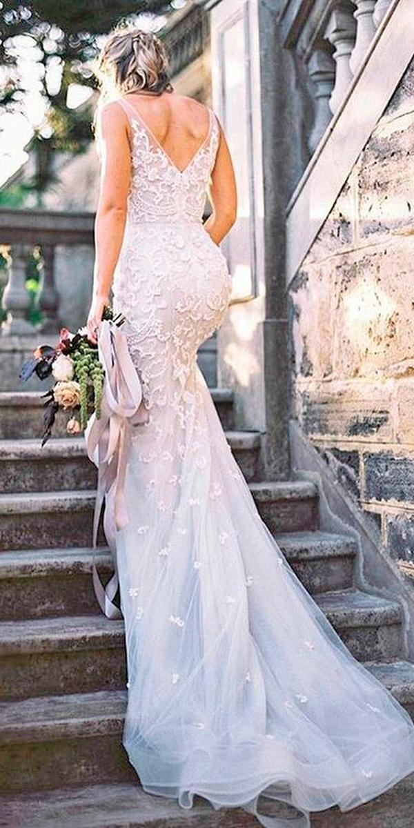 full lace v backless wedding dresses paolo sebastian
