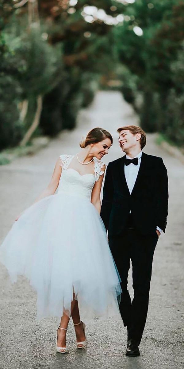 short queen ann neckline country wedding dresses ugur demirov