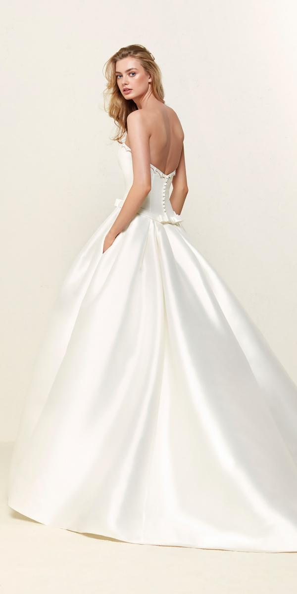 simple open back ball gowns wedding dresses pronovias