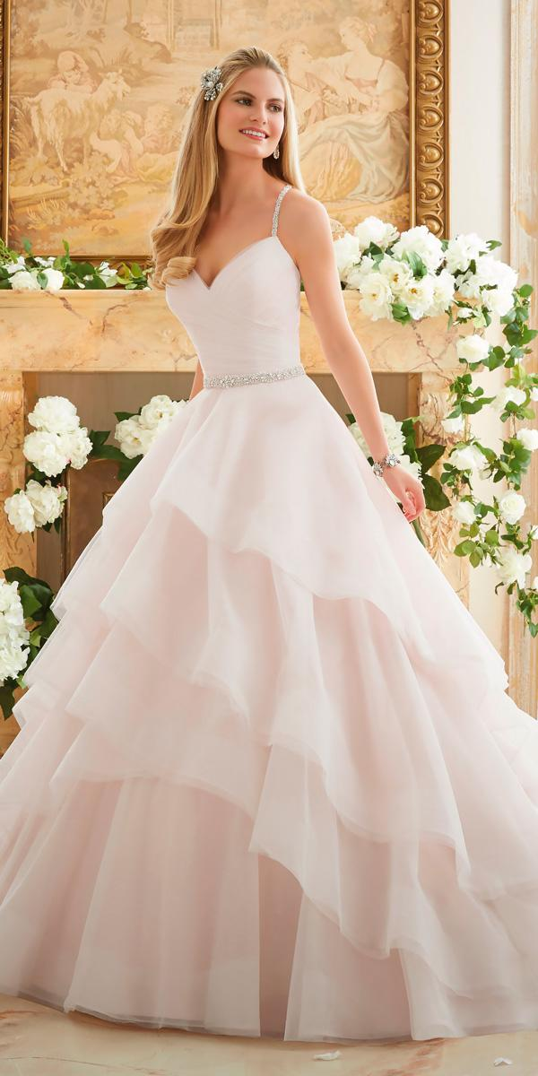 simple sweetheart ball gowns wedding dresses with straps morilee