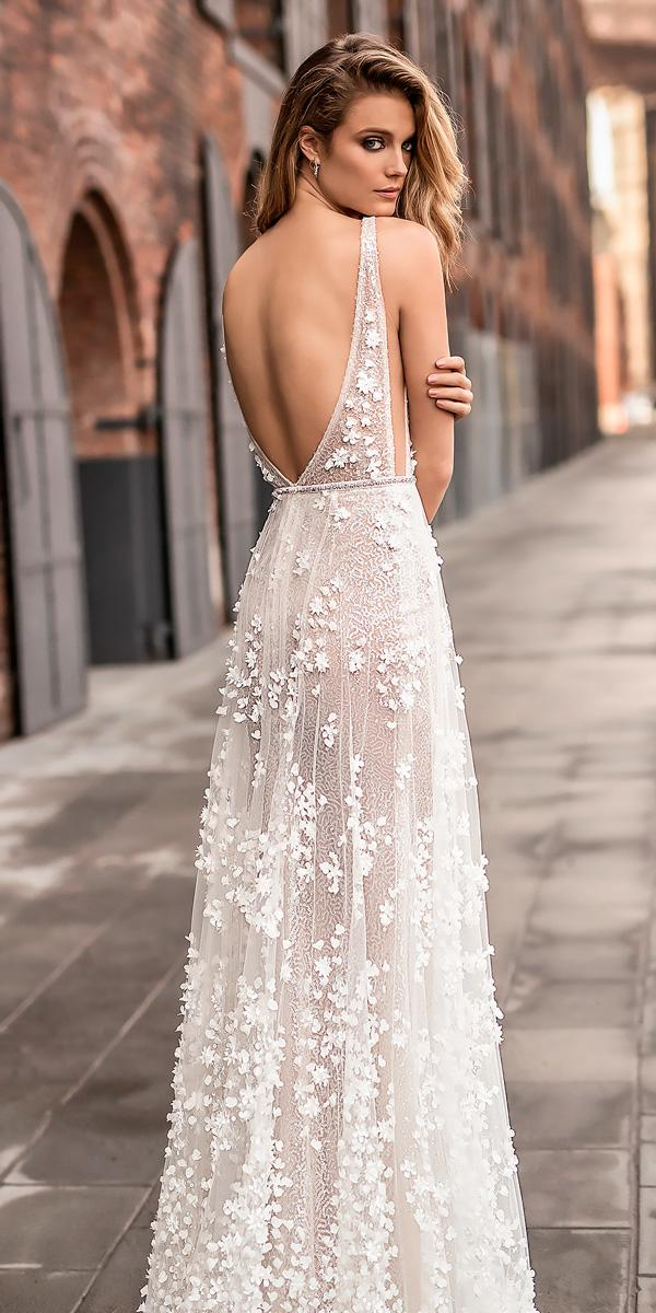 21 unforgettable sheath wedding dresses for ideal celebration sheath beach sleeveless low open back sweep wedding dresses berta bridal junglespirit Choice Image
