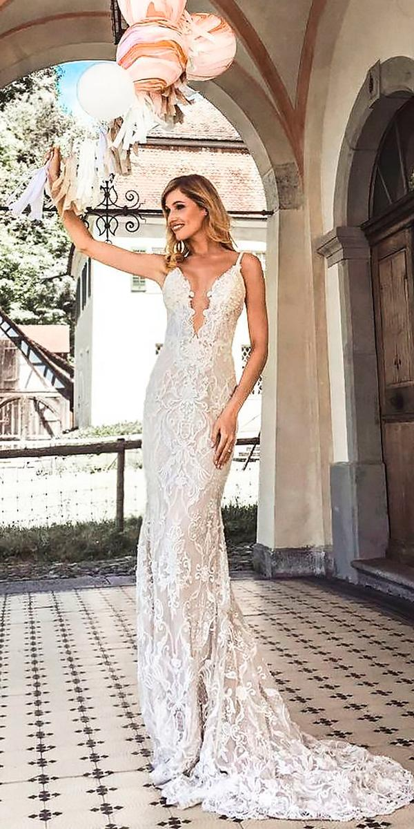 beach sheath spaghetti straps v neckline wedding dresses galia lahav