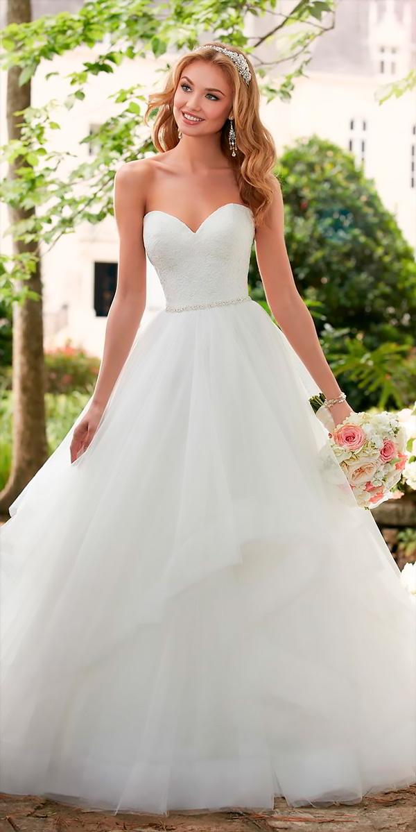 strapless sweetheart neck ball gowns wedding dresses stella york