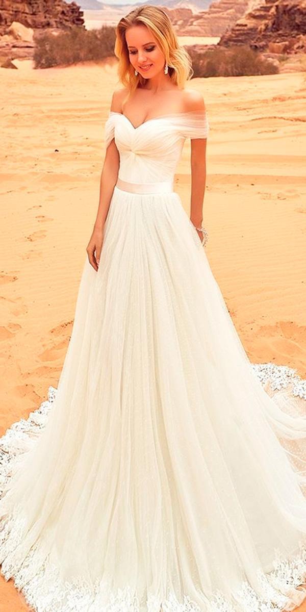 strapless sweetheart simple off the shoulder wedding dresses oksana mukha