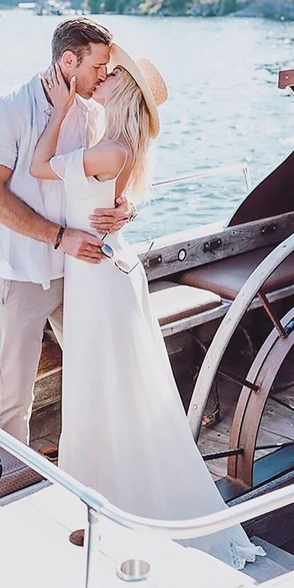 summer beach wedding dresses straight off the shoulder spaghetti straps leanne marshall official