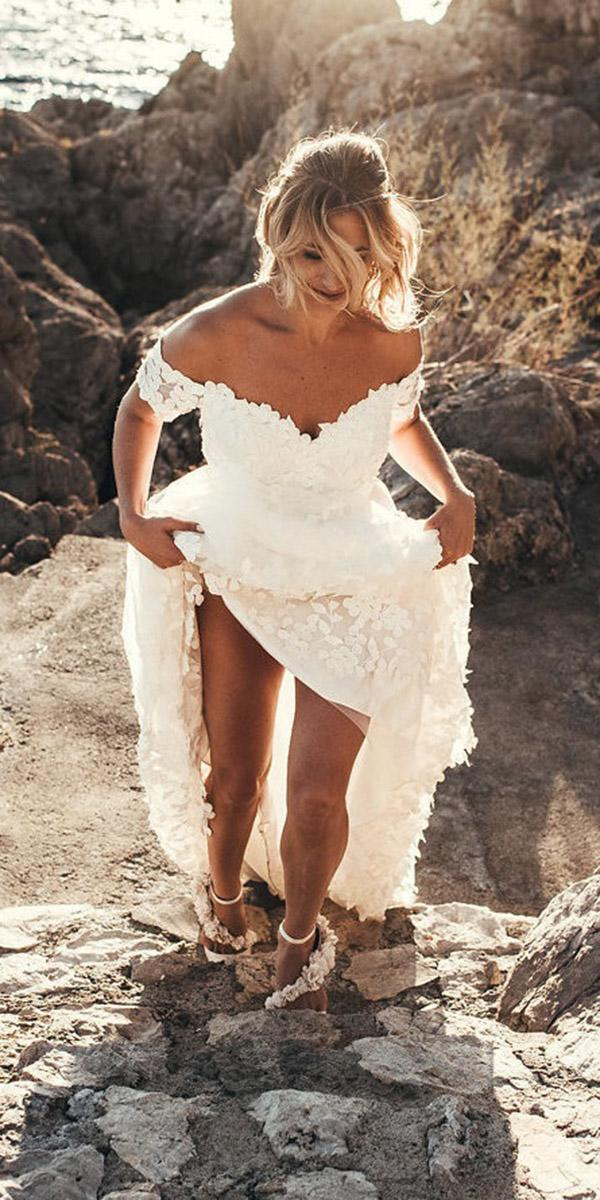 summer wedding dresses off the shoulder sweetheart for beach by malina