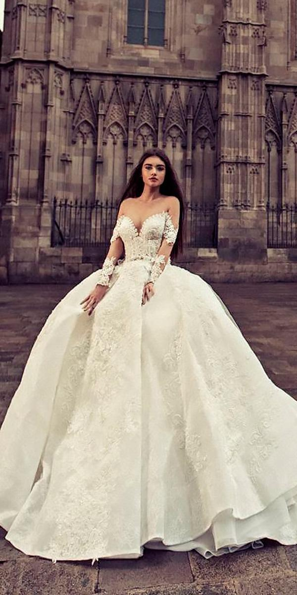 sweetheart with long sleeves ball gowns wedding dresses julia kontogruni