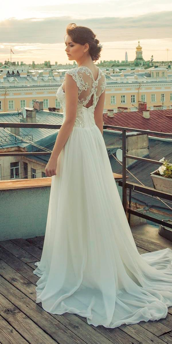 vintage lace wedding dresses country backless a line embellishment cap sleeves marsaladress