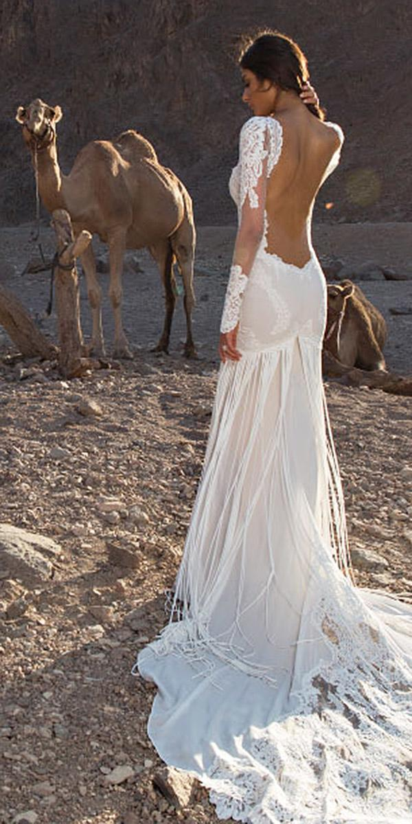 lace long sleeve wedding dresses with low back pnina tornai