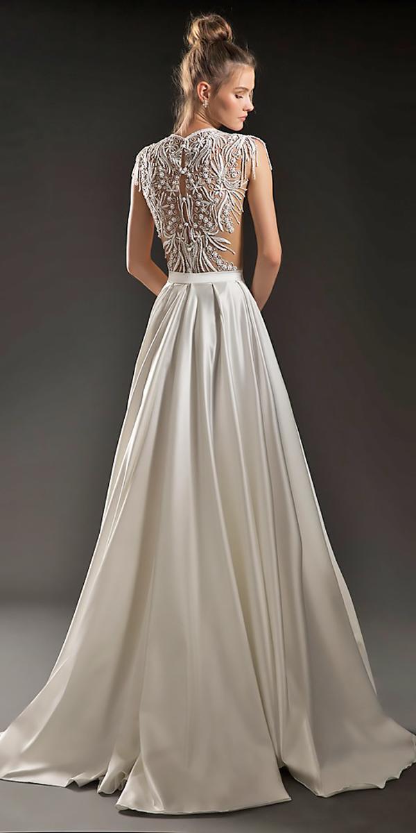 a line backless lace vintage wedding dresses emanuel brides