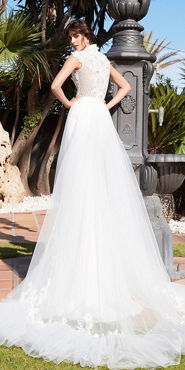 alessandra rinaudo wedding dresses floral back embellished tulle skirt 2018