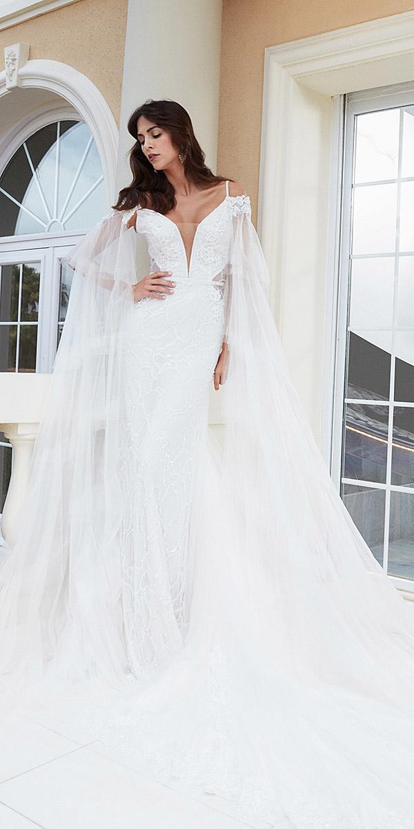 alessandra rinaudo wedding dresses spaghetti straps deep v neckline full lace 2018