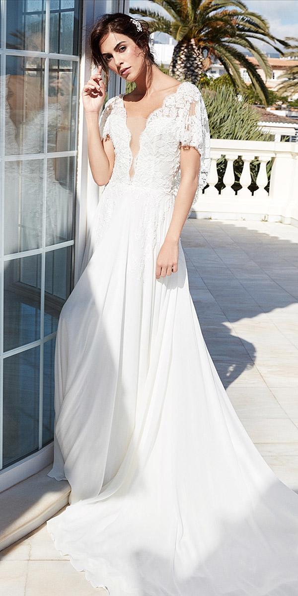 alessandra rinaudo wedding dresses straight lace top deep v neckline