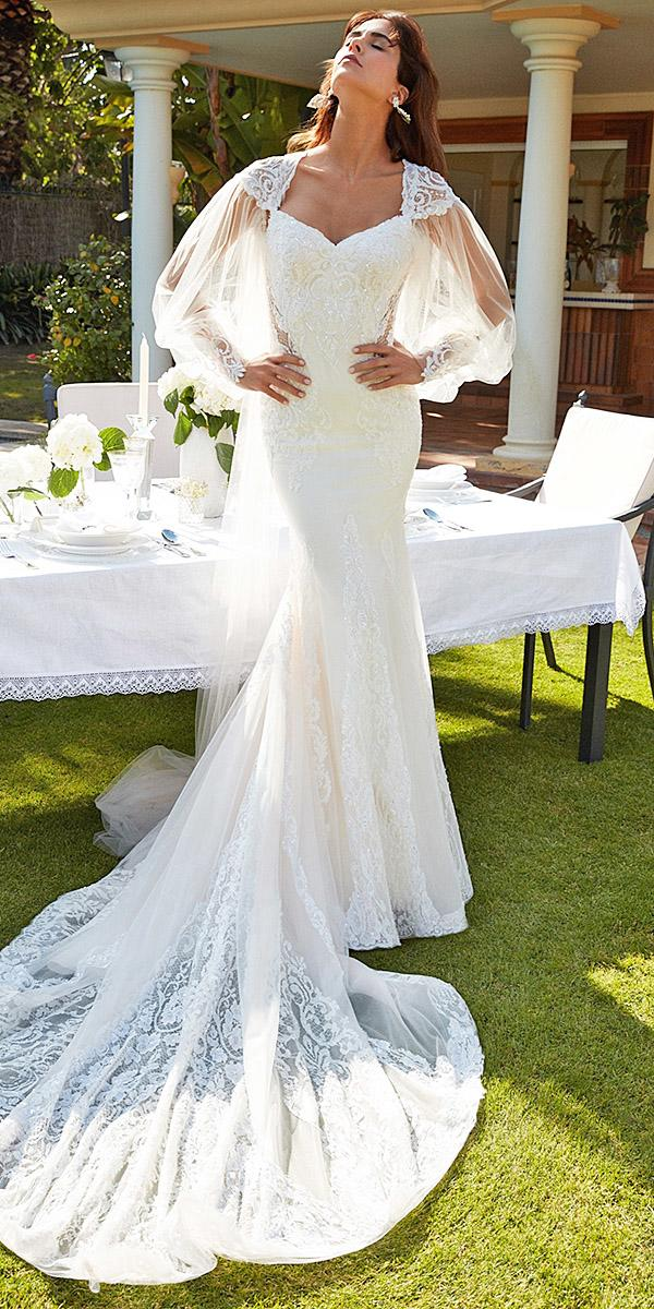 alessandra rinaudo wedding dresses trumpet with long sleeves sweetheart lace beaded with train 2018