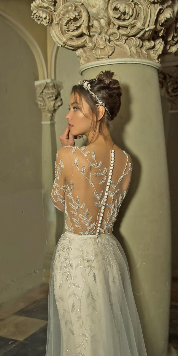 backless illusion lace back sheath vered vaknin wedding dresses