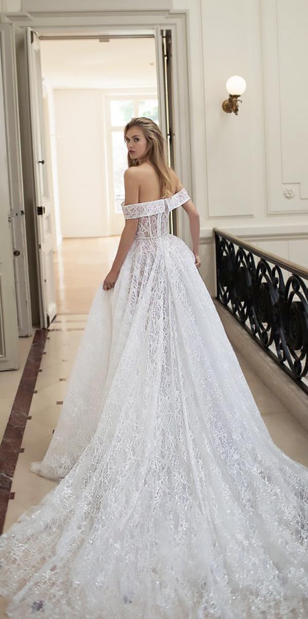 ball gown lace off the shoulder beach wedding dresses idan cohen