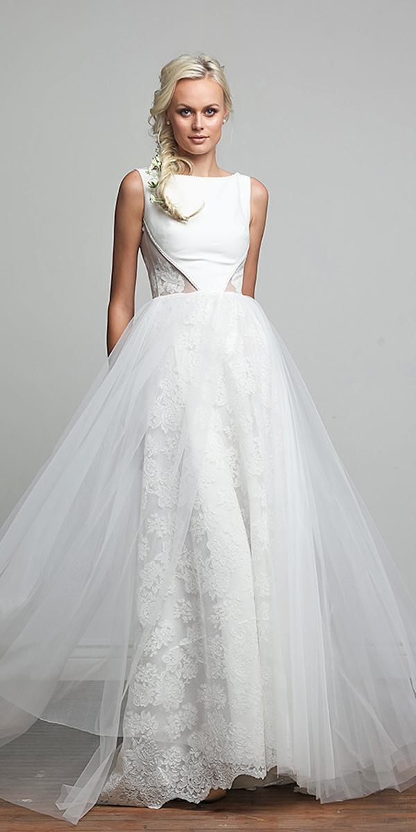 barbara kavchok wedding dresses 2018 tulle floral appliques romantic