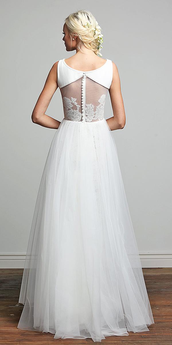barbara kavchok wedding dresses floral back tulle dresses 2018