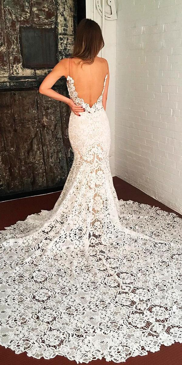 beach wedding dresses boho low back lace spaghetti straps goddess by nature